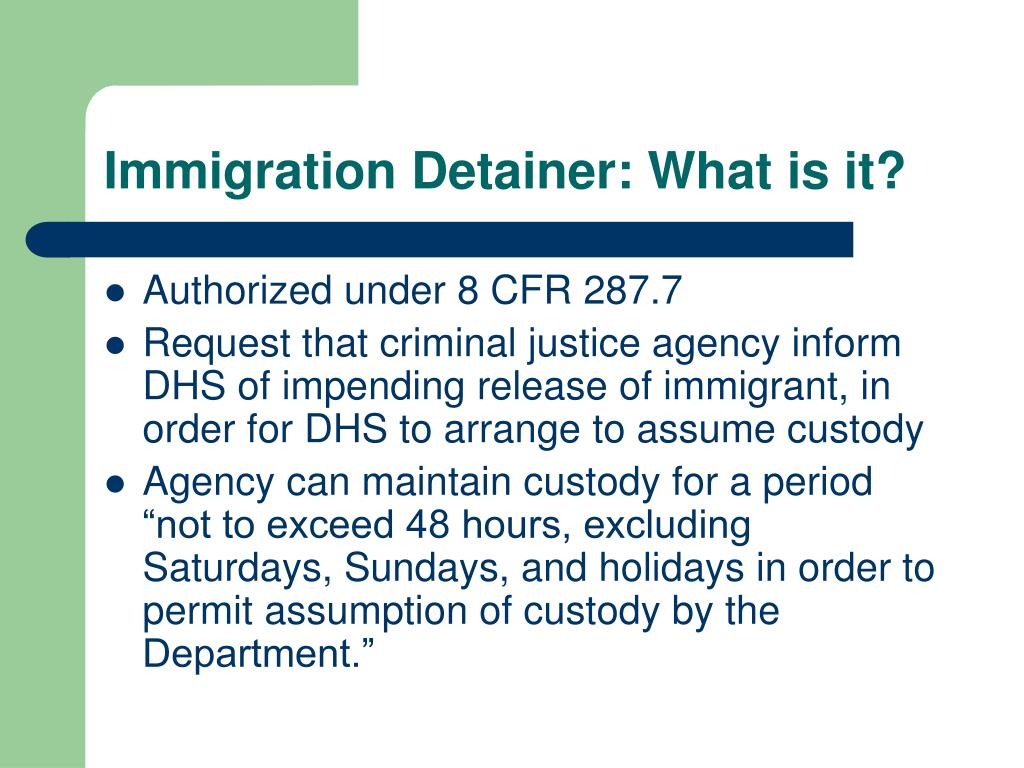 Immigration Detainer: What is it?