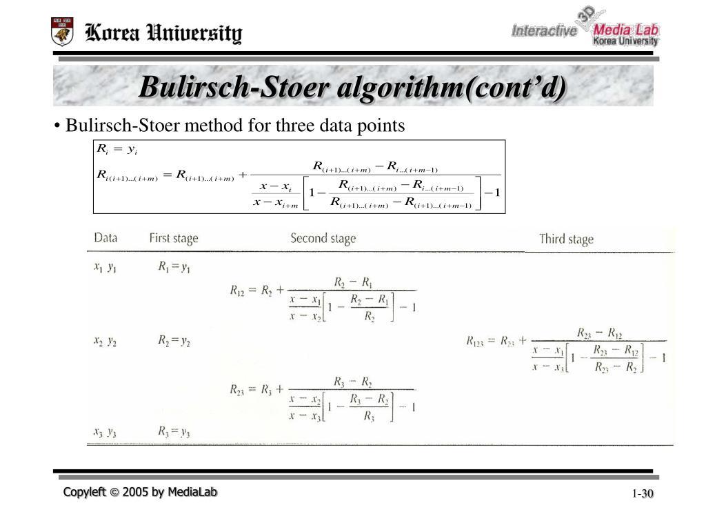 Bulirsch-Stoer algorithm(cont'd)
