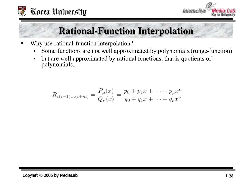 Rational-Function Interpolation