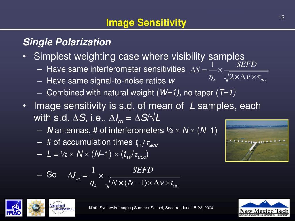 Image Sensitivity