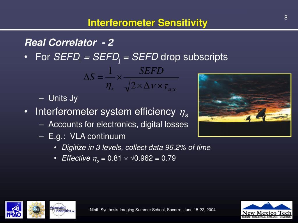 Interferometer Sensitivity