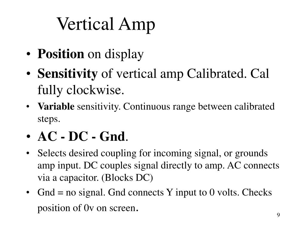 Vertical Amp