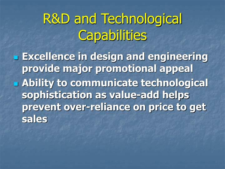 R&D and Technological Capabilities