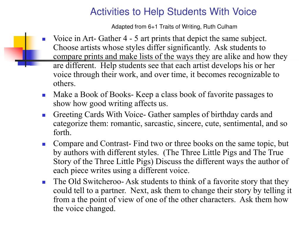 Activities to Help Students With Voice