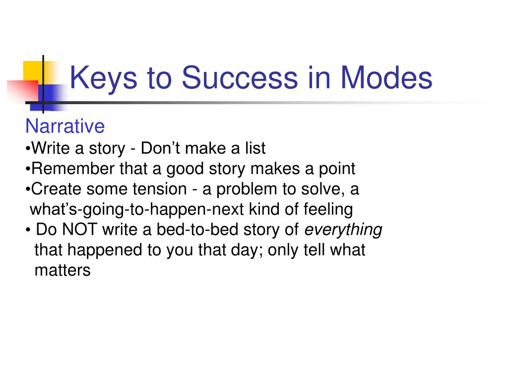 Keys to Success in Modes