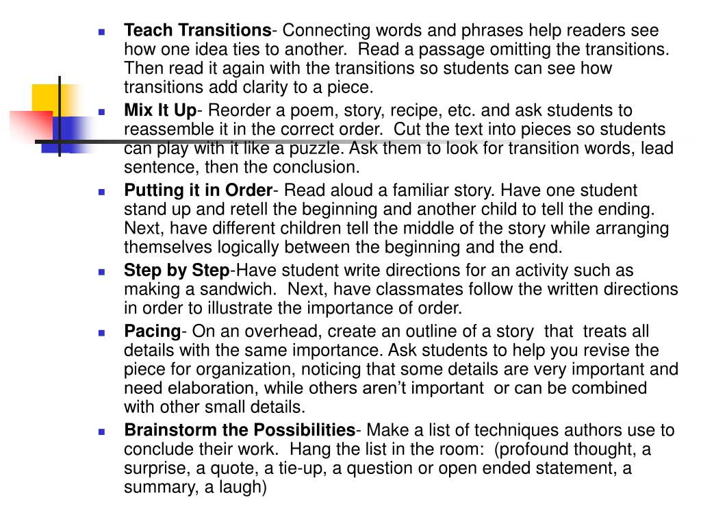 Teach Transitions