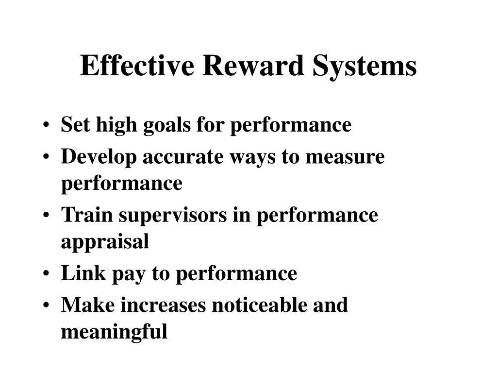 Effective Reward Systems