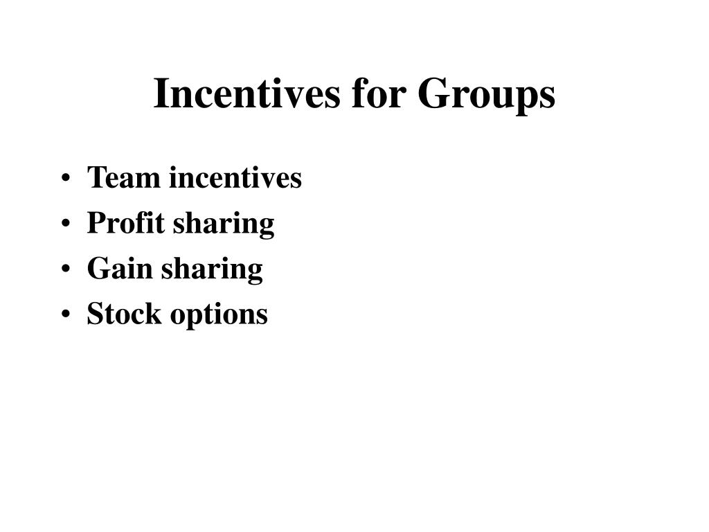 Incentives for Groups