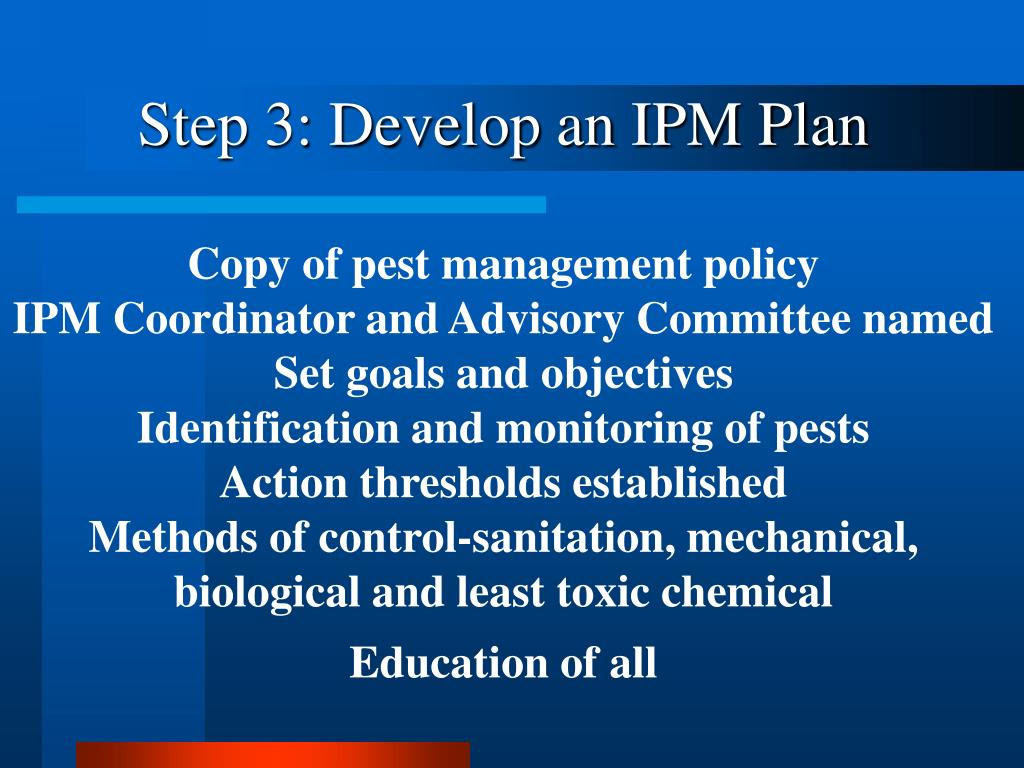 Step 3: Develop an IPM Plan