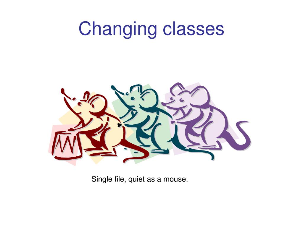 Changing classes
