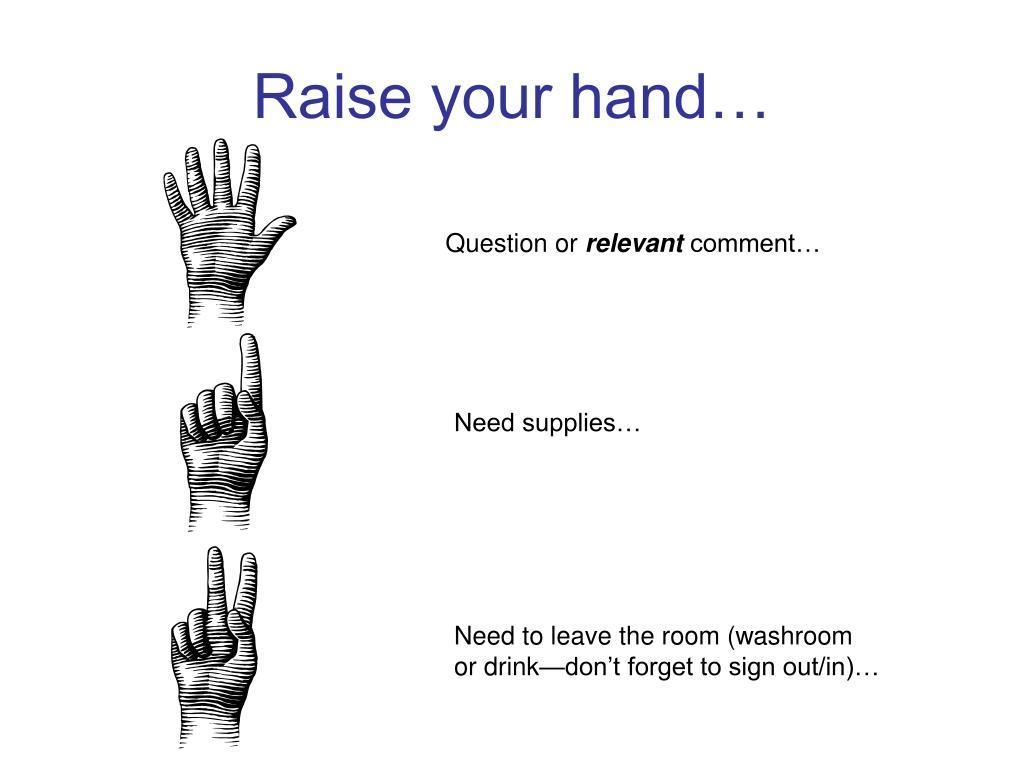 Raise your hand…