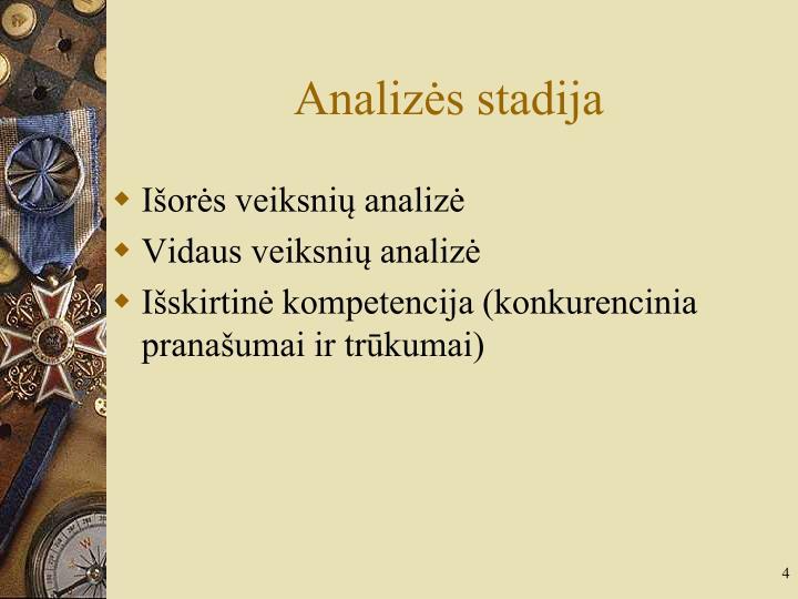 Analizės stadija