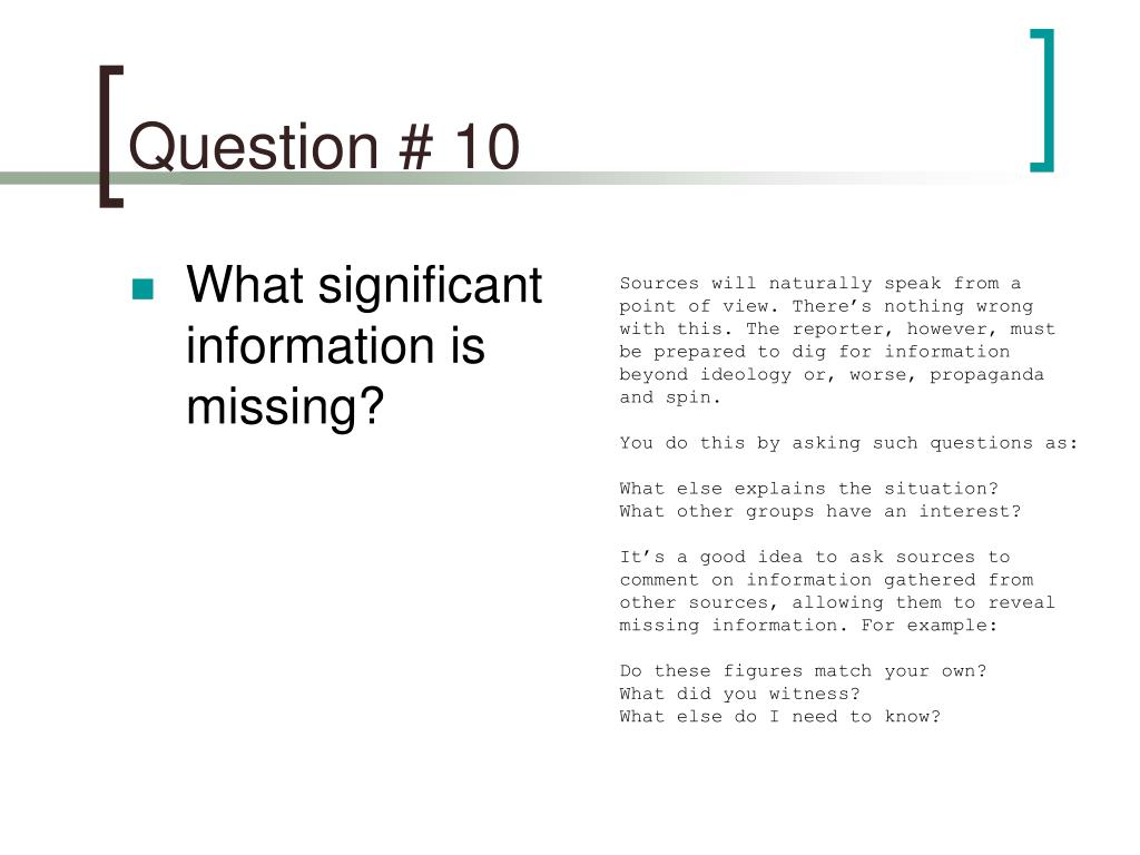 Question # 10