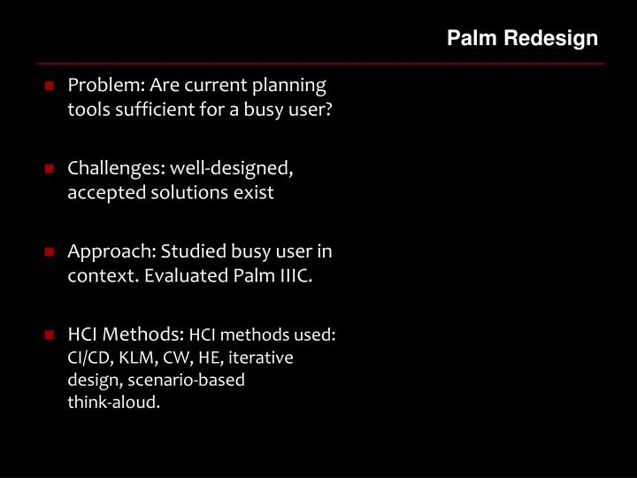 Palm Redesign