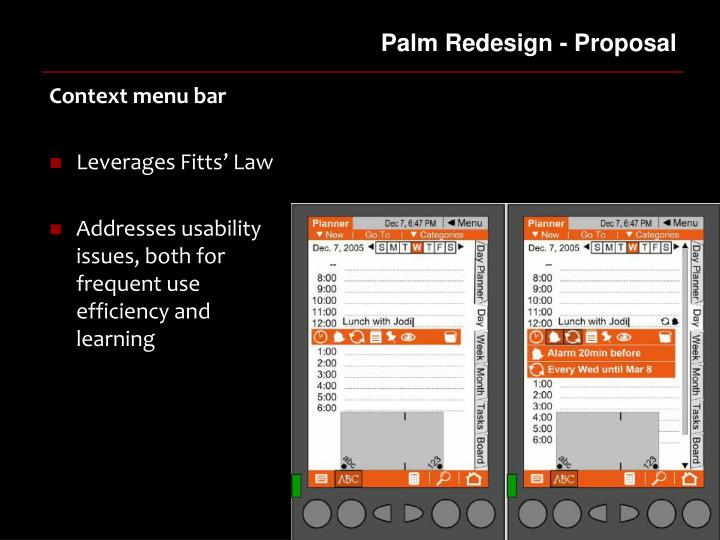 Palm Redesign - Proposal
