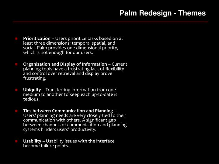 Palm Redesign - Themes