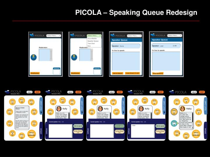 PICOLA – Speaking Queue Redesign