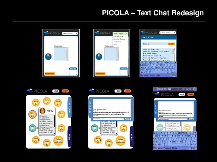 PICOLA – Text Chat Redesign