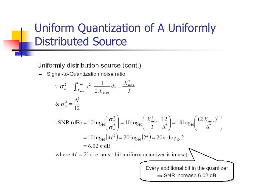 Uniform Quantization of A Uniformly Distributed Source
