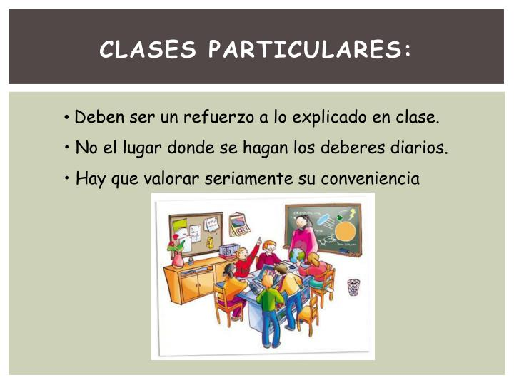 CLASES PARTICULARES: