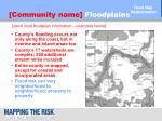 community name floodplains