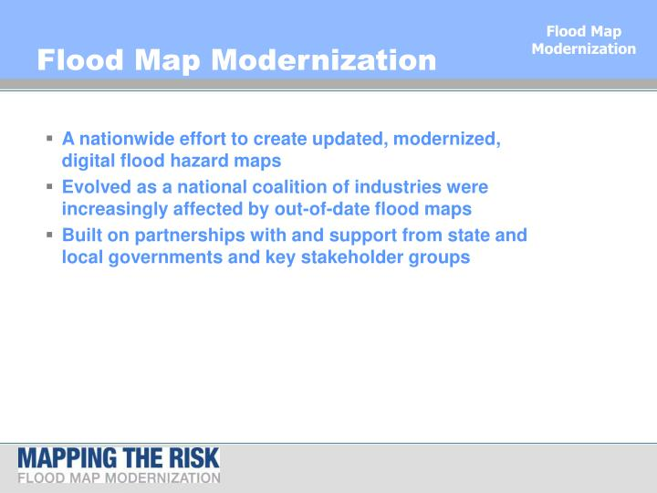 Flood map modernization