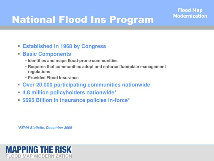 National Flood Ins Program