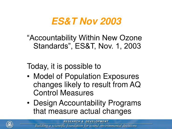 ES&T Nov 2003