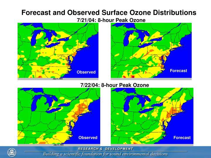7/21/04: 8-hour Peak Ozone