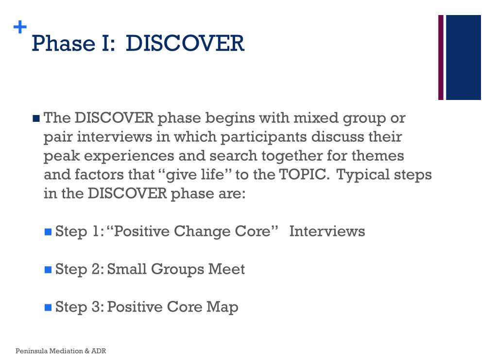 Phase I:  DISCOVER