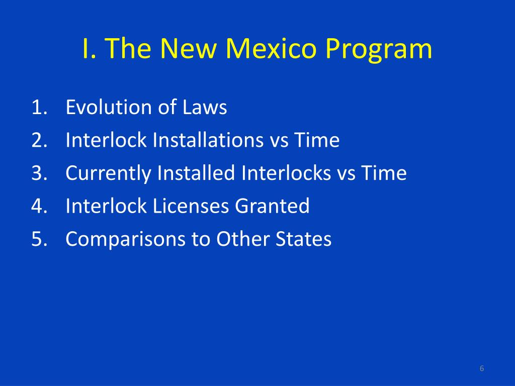 I. The New Mexico Program