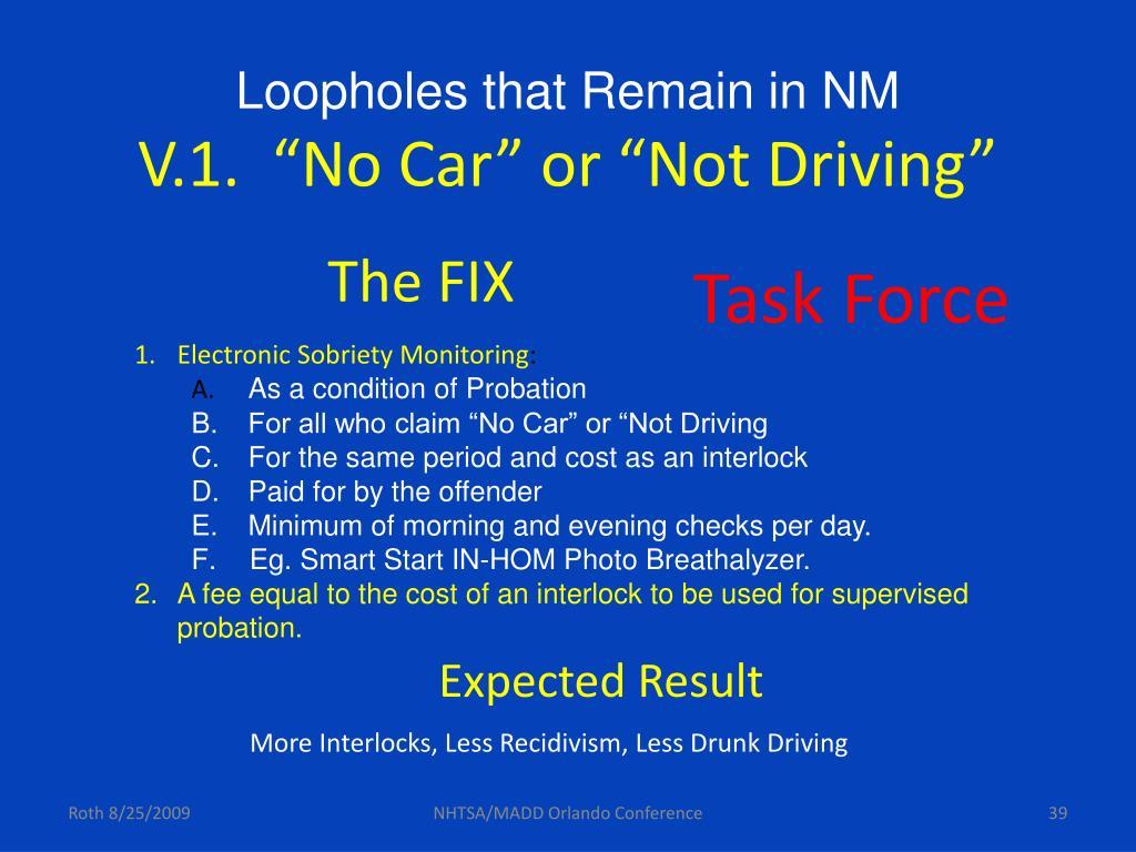 Loopholes that Remain in NM