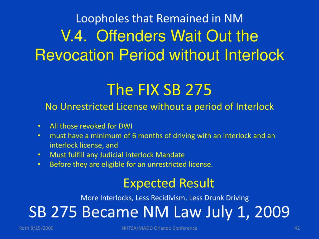 Loopholes that Remained in NM