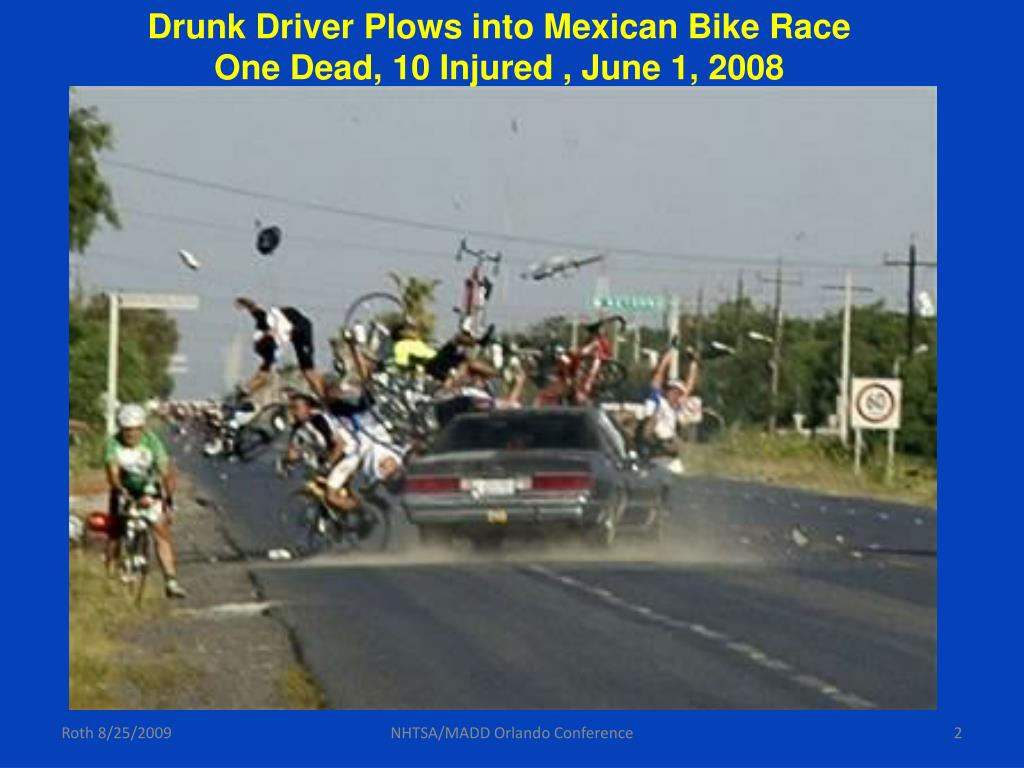 Drunk Driver Plows into Mexican Bike Race