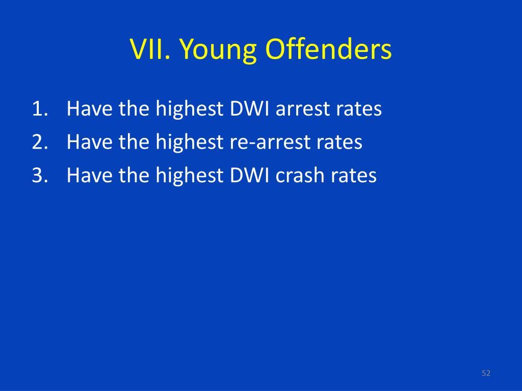 VII. Young Offenders