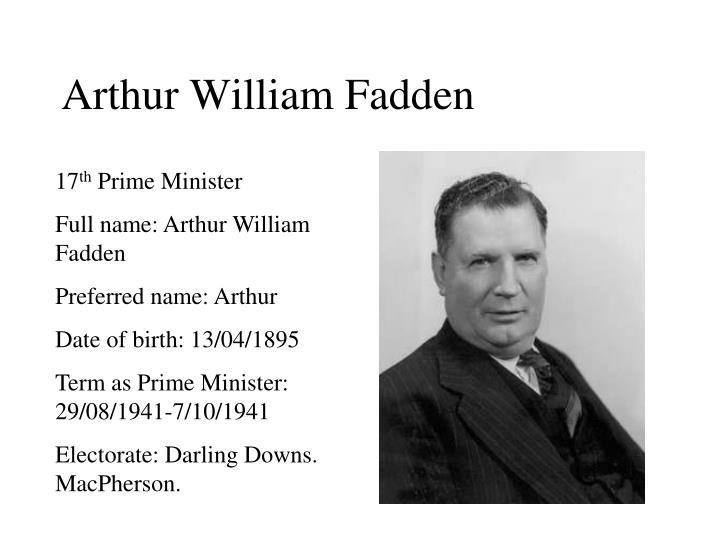 Arthur William Fadden