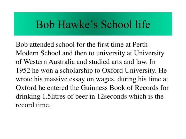 Bob Hawke's School life