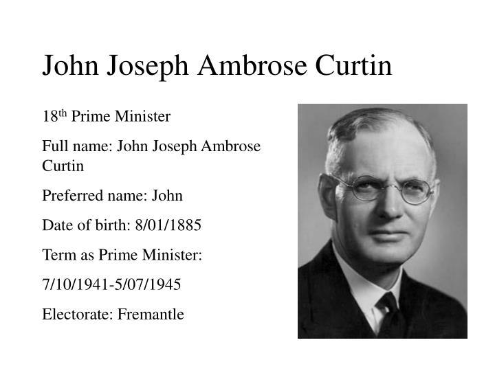 John Joseph Ambrose Curtin