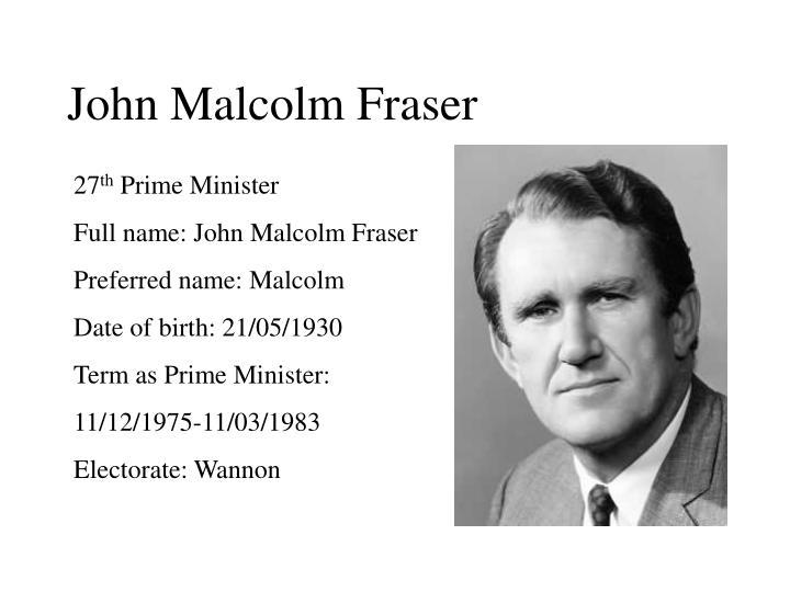 John Malcolm Fraser