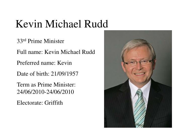 Kevin Michael Rudd