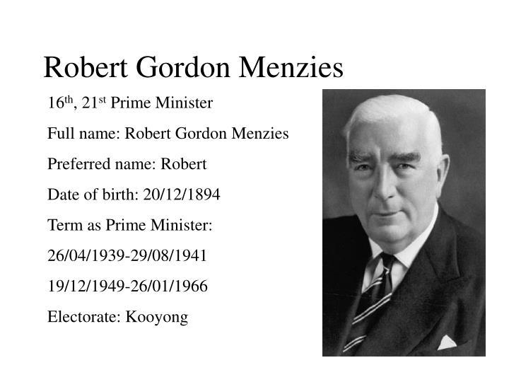 Robert Gordon Menzies