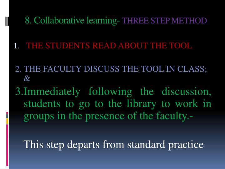 8. Collaborative learning-
