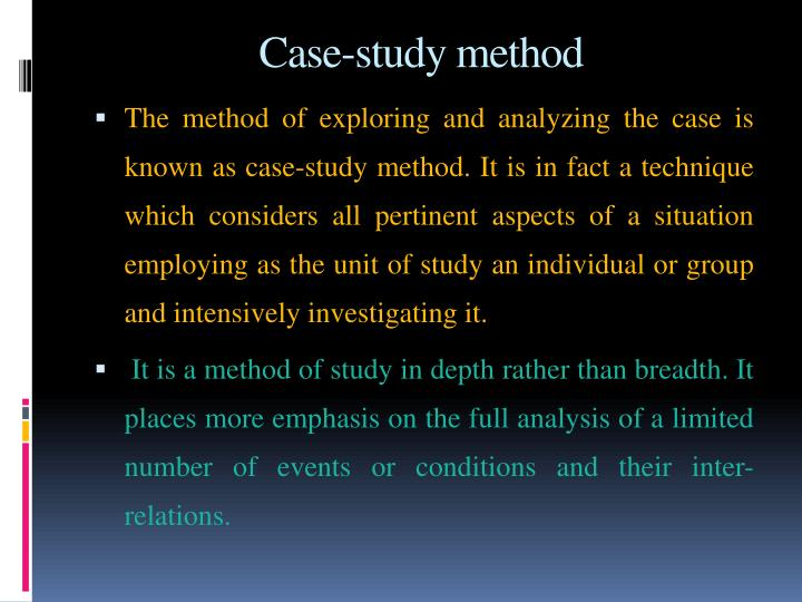 Case-study method