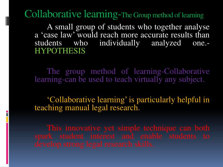 Collaborative learning-