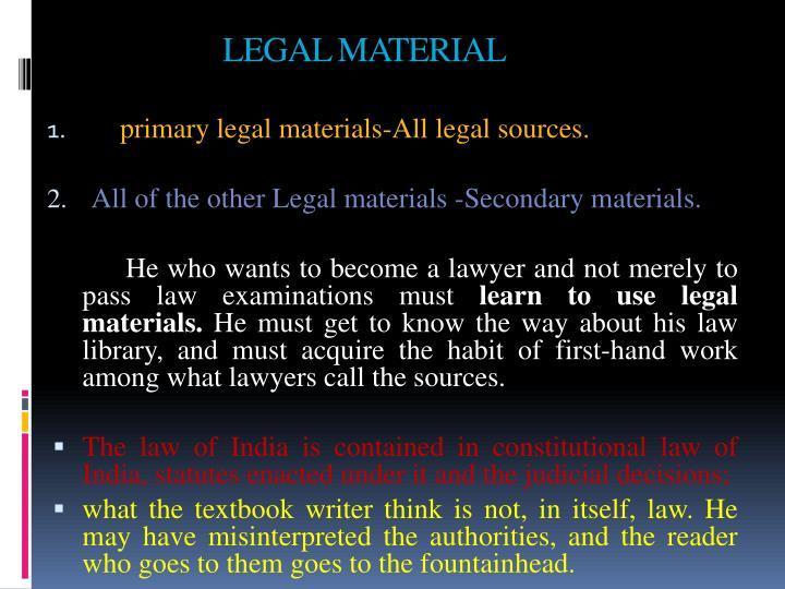 LEGAL MATERIAL