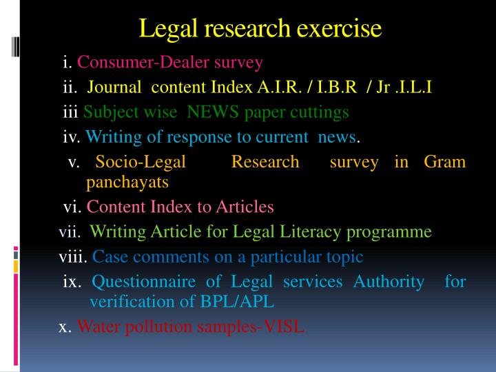 Legal research exercise
