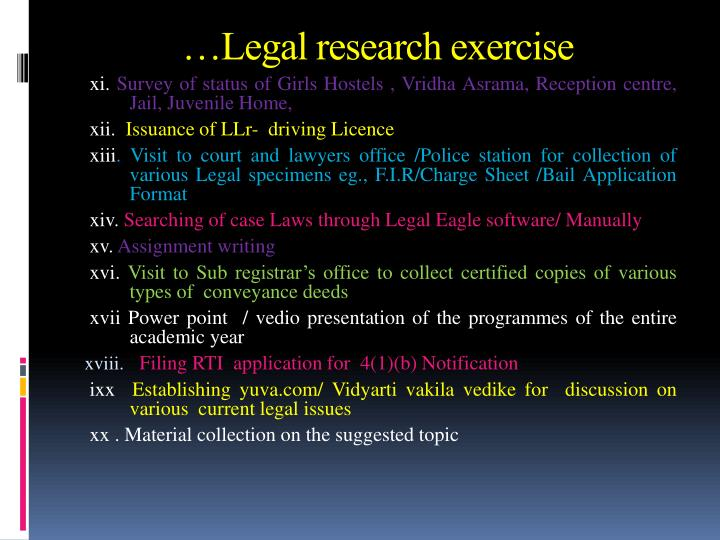 …Legal research exercise