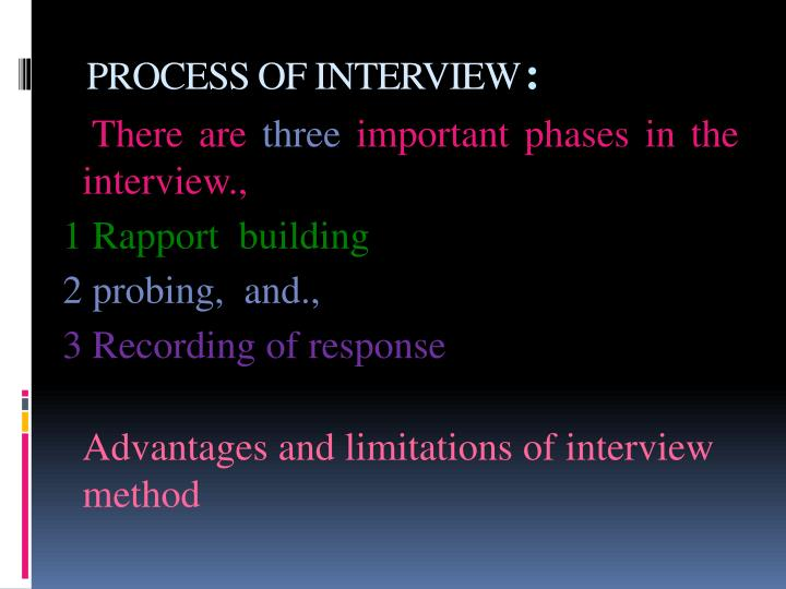PROCESS OF INTERVIEW