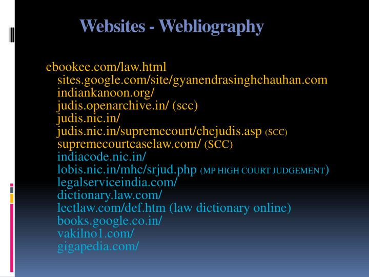 Websites - Webliography