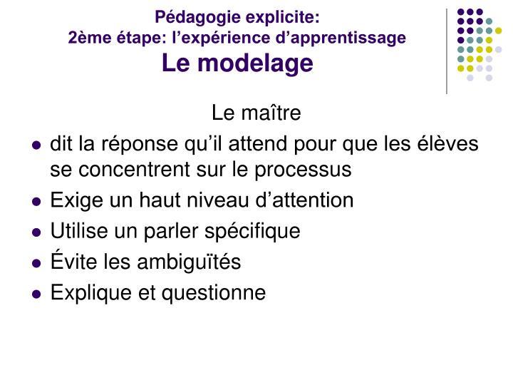 Pédagogie explicite: